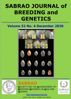 SABRAO Journal Volume 52 December 2020 Issue Cover